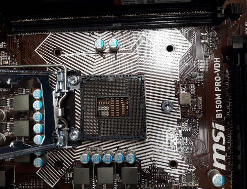 Uratowana płyta główna MSI, prostowanie pinów gniazda procesora