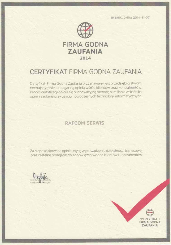 certyfikat_firma_godna_zaufania_rafcom_katowice_wojewodzka_31
