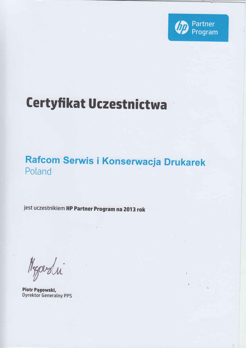 HP Partner Program Rafcom Katowice