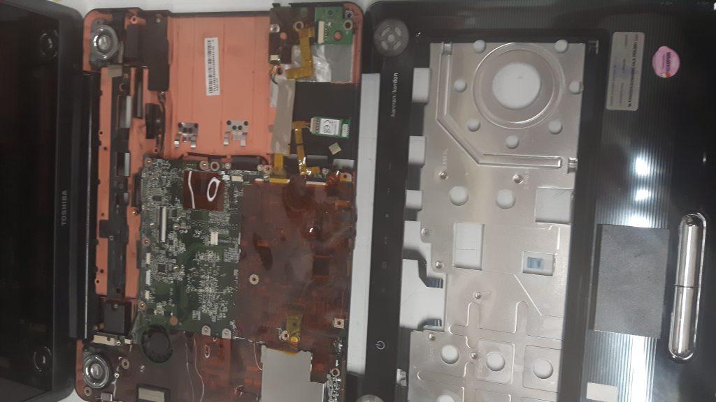 Wnętrze laptopów Toshiba